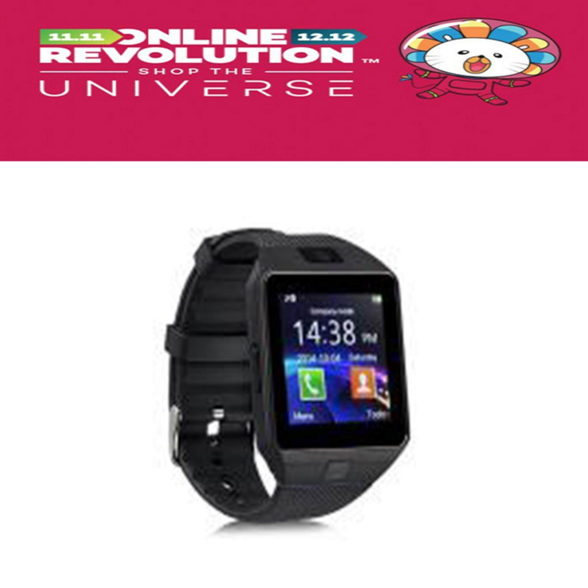dd51c189e10 Bluetooth Smartwatch DZ09 Smart Watch Mobile Phone Sim Card For Android IOS  (Black)
