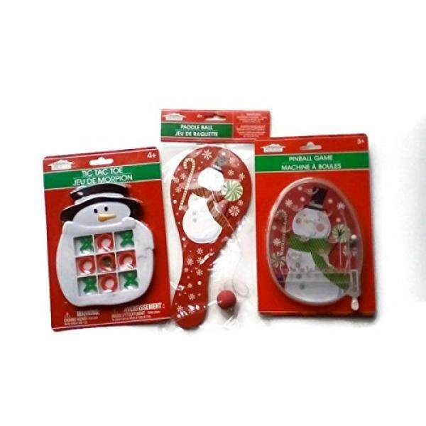 Holiday Handheld Snowman Fun Game Bundle Three Piece Set By Buyhole.