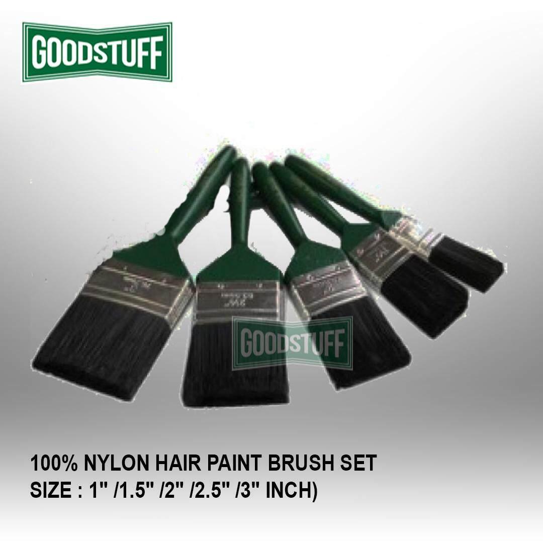 """100% NYLON HAIR PAINT BRUSH SET (1/1.5/2/2.5/3"""" INCH)"""
