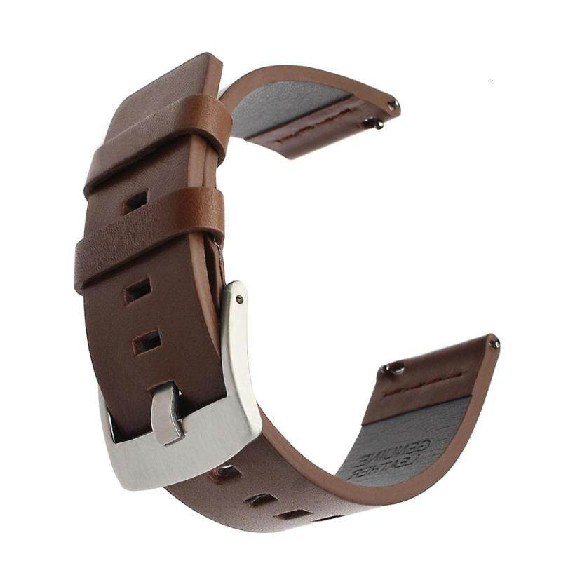 Leather Watchband +Tool for Diesel Fossil Timex Armani CK DW Quick Release Watch Band Wrist Strap 22mm Malaysia