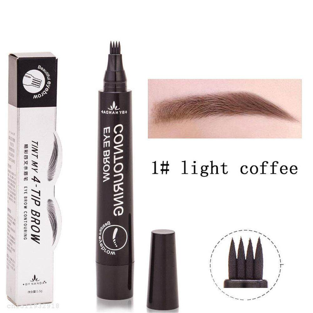 Makeup Brush Set Cosmetics With Best Price In Malaysia Pixy Eyebrow Brown Microblading Tattoo Pen Waterproof Fork Tip Sketch Ink 4 Head
