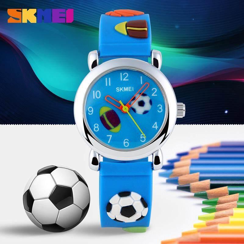 SKMEI 1047 Kids Fashion Lovely Quartz Watch 3D Pattern Starp Girls Bowknot Football Children Wristwatch Boys Watches Malaysia