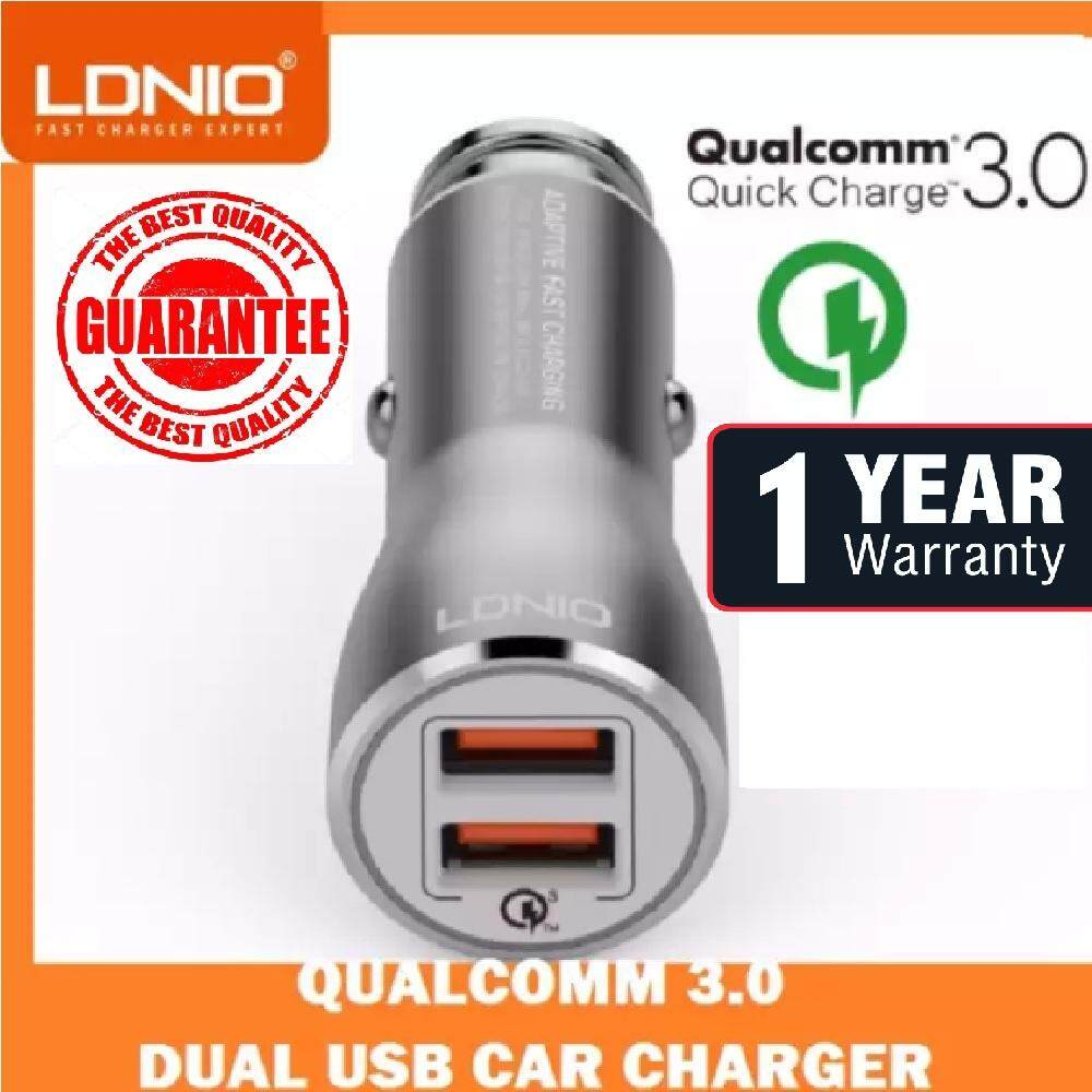 Wired Mobile Chargers For The Best Prices In Malaysia Lighter Usb Adapter Wiring Schematic Qualcomm 30 1 Yr Wrty Ldnio C407q Dual Fast Car Charger