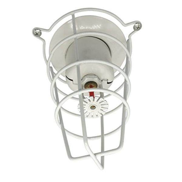 (8 Pack) White Fire Sprinkler Head Guard for Both 1/2 & 3/4 Sprinkler Head 6 Deep Cage