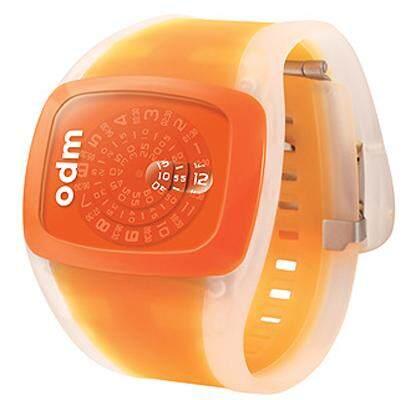 ODM DD100-4 Unisex Watches : Spin Analog Orange Jelly Strap Malaysia