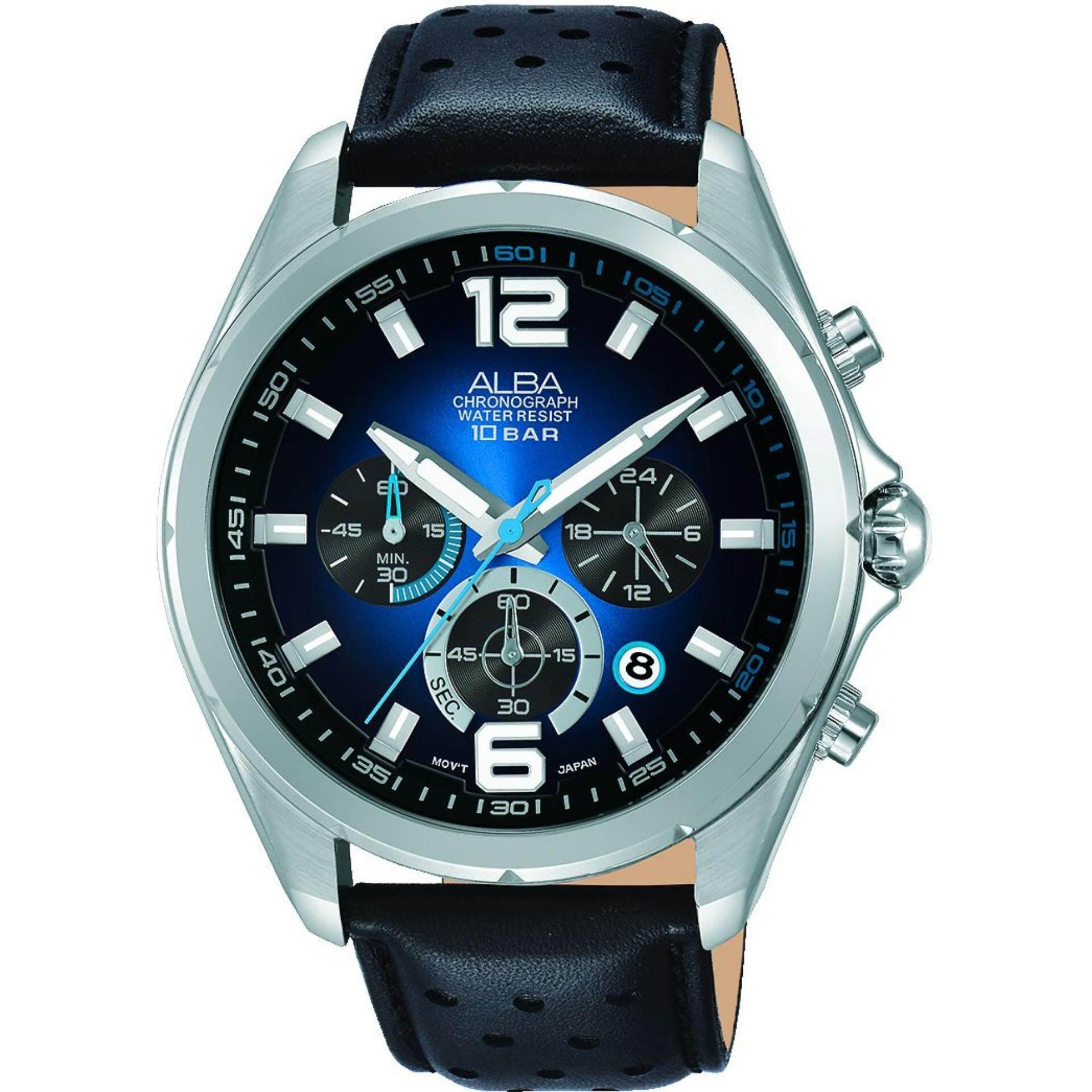 ALBA Elegant Chronograph Watch AT3B57X1 Original 1 year Warranty
