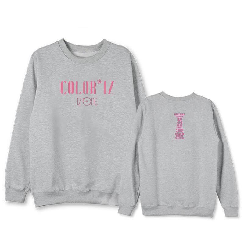 ada72a73d5d Izone Combination Debut Album Coloriz Concert Around The Same Paragraph  Round Neck Sweater Plus Velvet Thin
