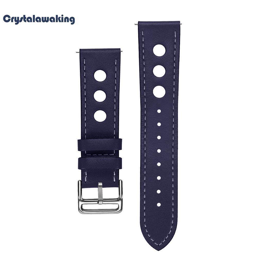 Leather Watchband 22mm Bracelet Wrist Strap Replacement For Samsung Gear S3 By Crystalawaking.