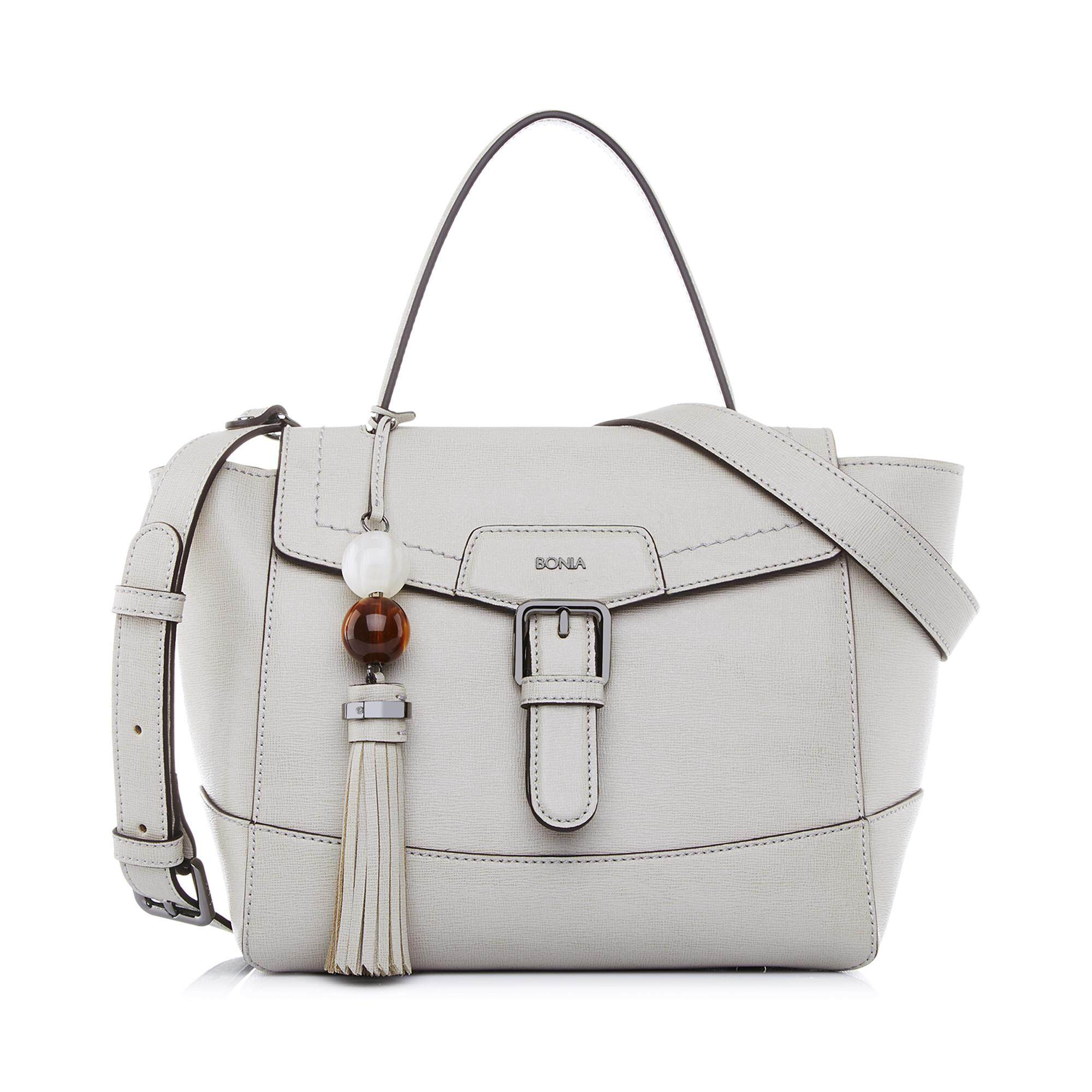 Bonia Light Grey Betsy Satchel M