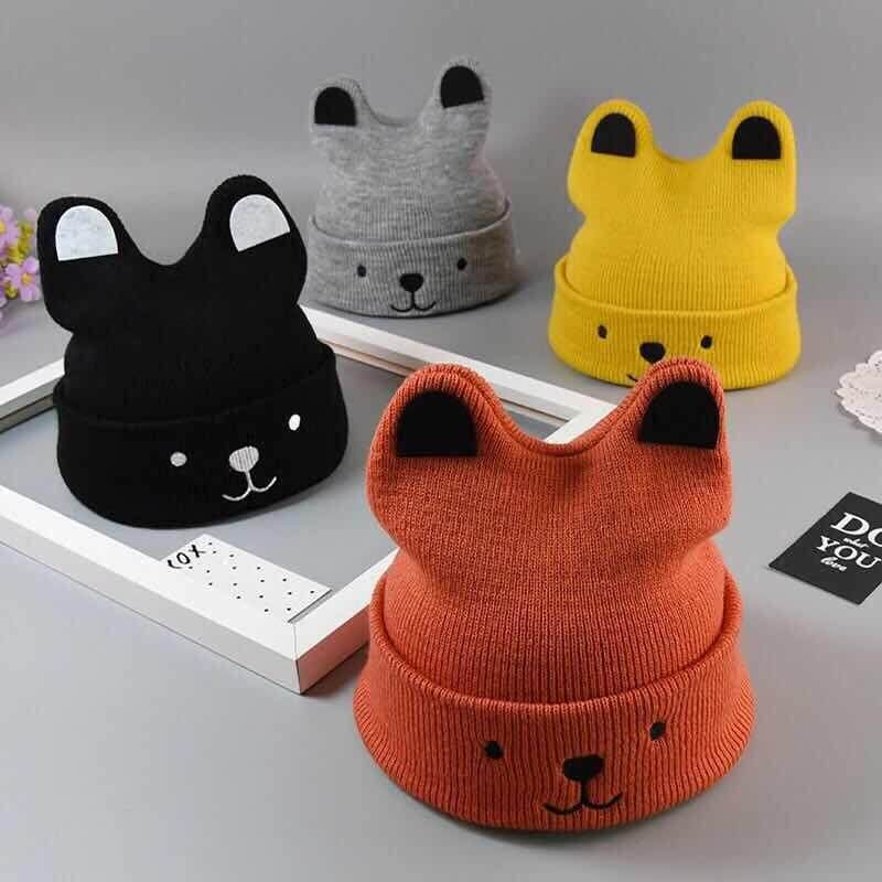 [genius Baby House] Baby Boy Girl Cotton Cap Winter Hat Cute Kitty Design Gbc Web H1002 By Genius Baby House.