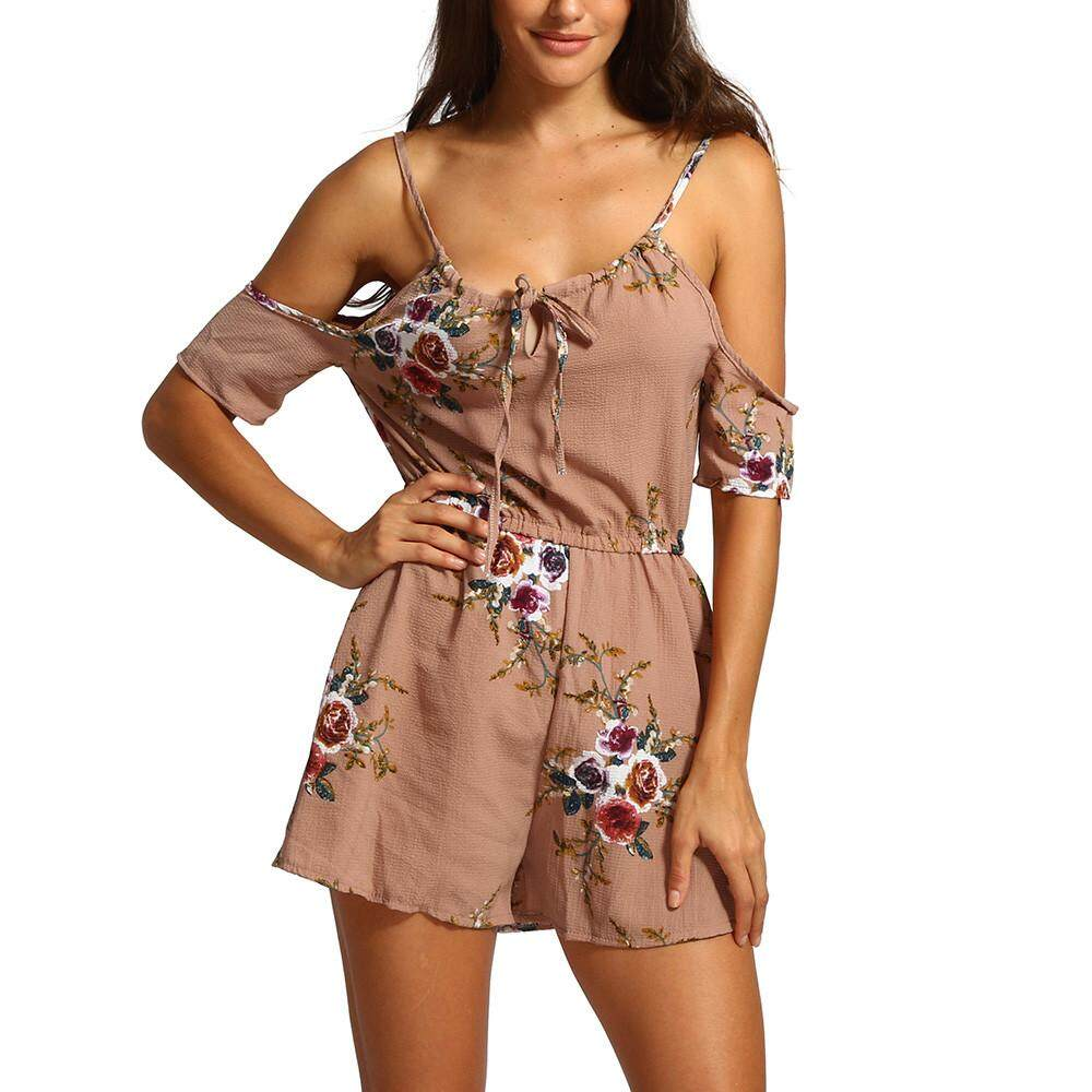 d333d7b44e Aiipstore Womens Summer Off The Shoulder Playsuit For Holiday Ladies  Jumpsuit