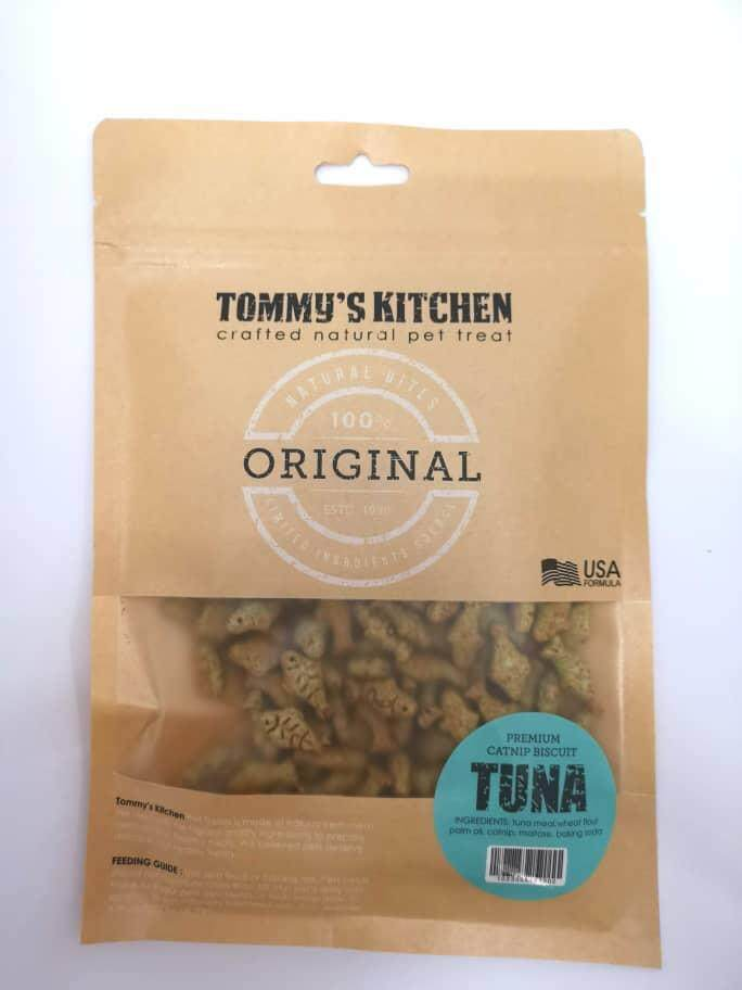 Tommys Kitchen Premium Catnip Biscuit 100g (tuna) By O Tokuda Enterprise.