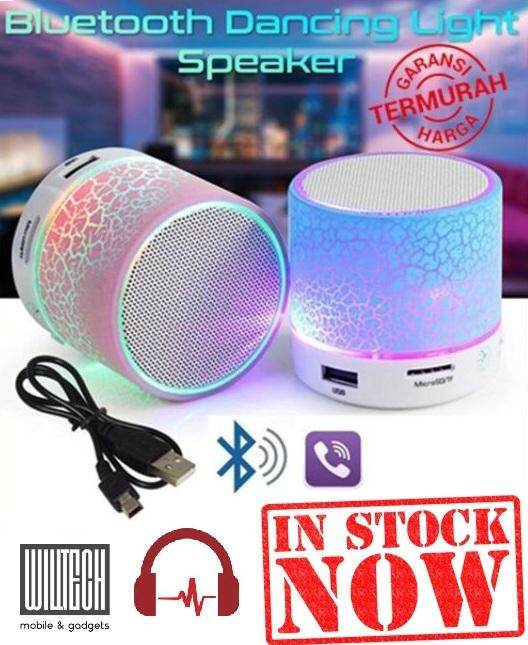 LED Mini Bluetooth Speaker Wireless TF Card USB Pendrive Malaysia