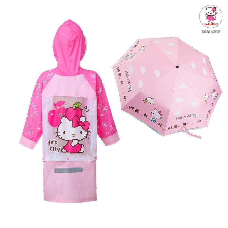 985f290f3bb3b Children hello kitty Raincoat Children s Baby Single Person Poncho Kids  Students Girls  Raincoat Rain Boots