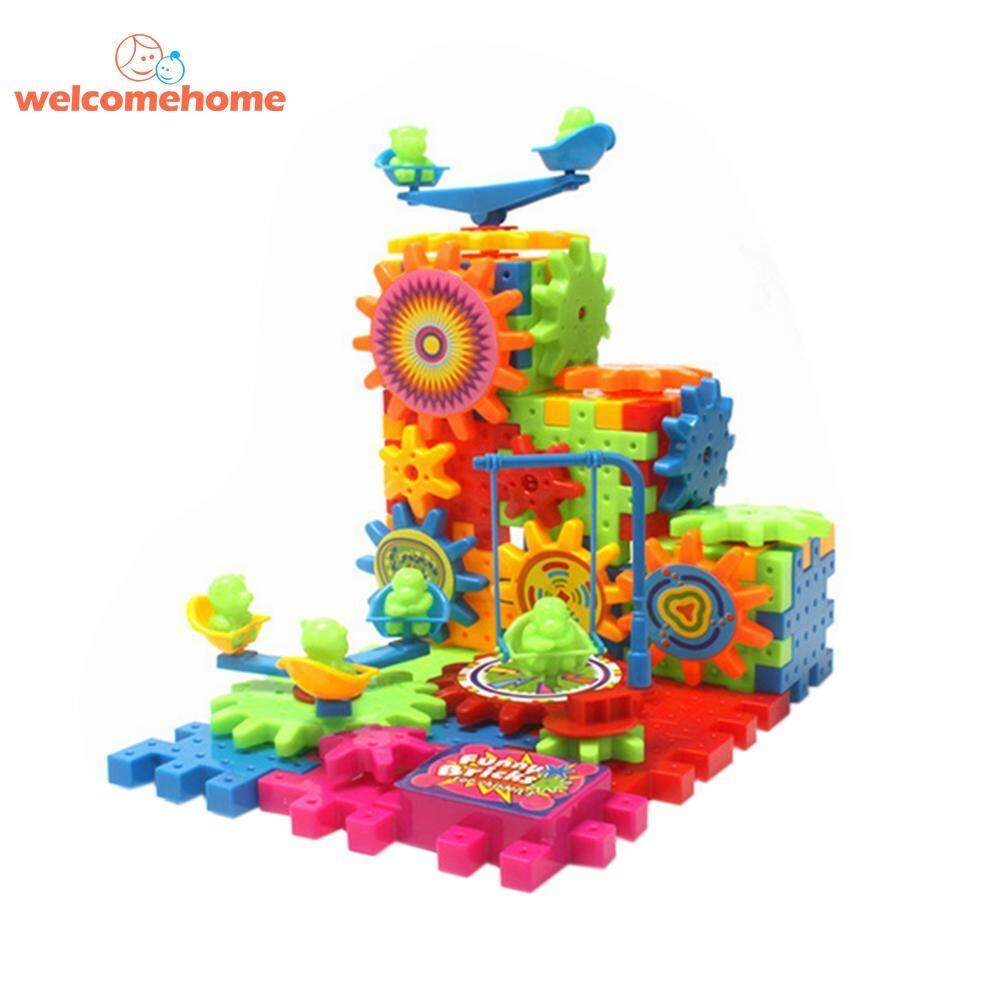 Plastic Assembled Building Blocks Electric Rotary Toy Bricks For Kid Study Education Learning Training Tools By Welcomehome.