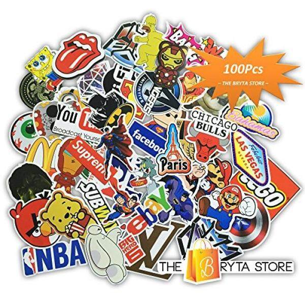 Bryta 100 PREMIUM Stickers Decals Vinyls  Pack of The Best Selling Cool Sticker  Perfect To Graffiti Your Laptop, Macbook, Skateboard, Luggage, Car, Bumper, Bike, Hard Hat  The Store Malaysia