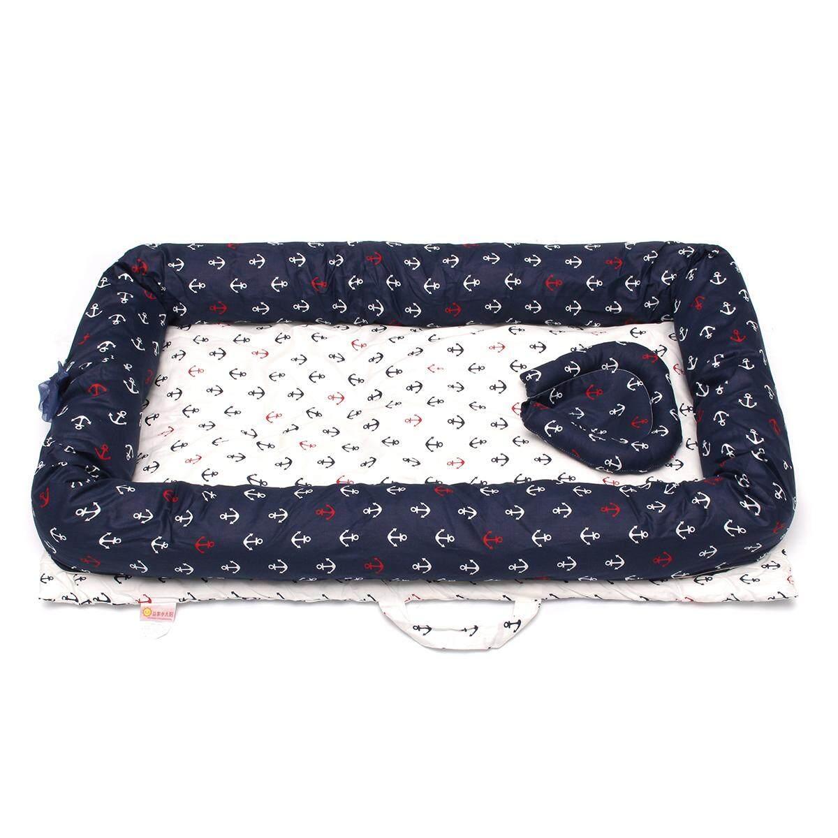 c0341faa0 Newborn Baby Nest Crib Sleep Snuggle Cot Bed Pod Bumper Soft Comfort Toddler