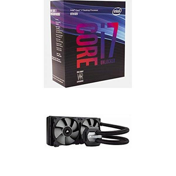 Intel BX80684I78700K 8th Gen Core i7-8700K Processor and Corsair CW-9060025-WW Hydro Series, H100i v2, 240mm Radiator, Dual 120mm PWM fans Malaysia