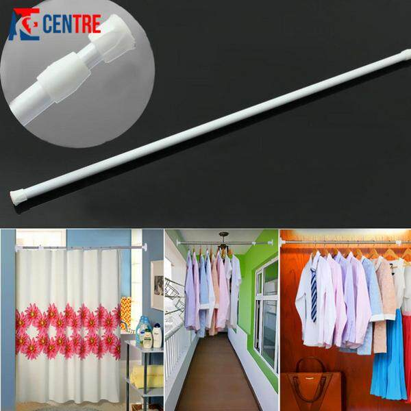 Adjustable tension bathroom curtain extensible rod hanger 3.png
