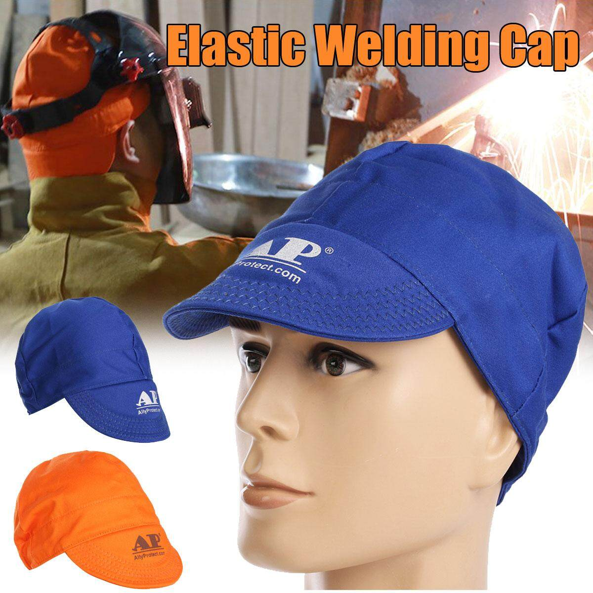 5PCS Universal Elastic Welding Welder Flame Retardant Cloth Hat Cap Head Protection Blue