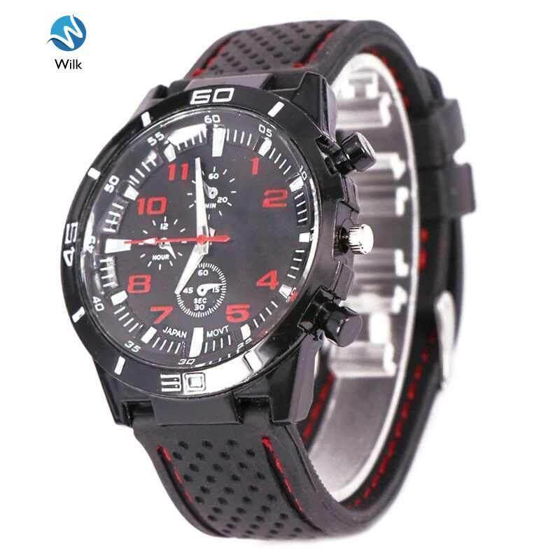 Fashion Men Boys Watch Quartz Wristwatches Silicone Band Casual Male Clock Malaysia