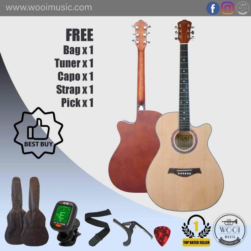 AK Guitar AK220C Natural (FREE Bag, Capo, Tuner, Strap & Pick) Malaysia