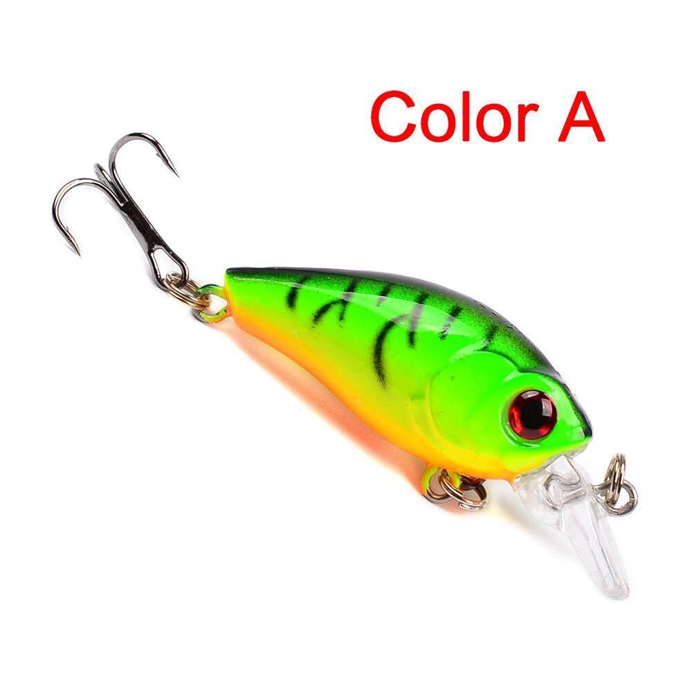 Jayaskyie 1PC Fishing Lures 4.5cm Plastic Hard Bass Baits 6 Colors Minnow Lures