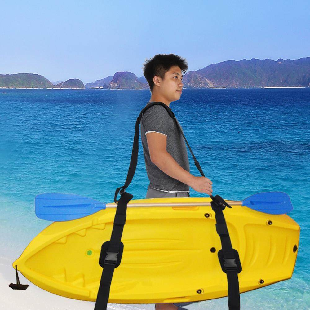 Portable Kayak Canoe SUP Surfboard Adjustable Nylon Carrying Strap Belt with Paddle Loop