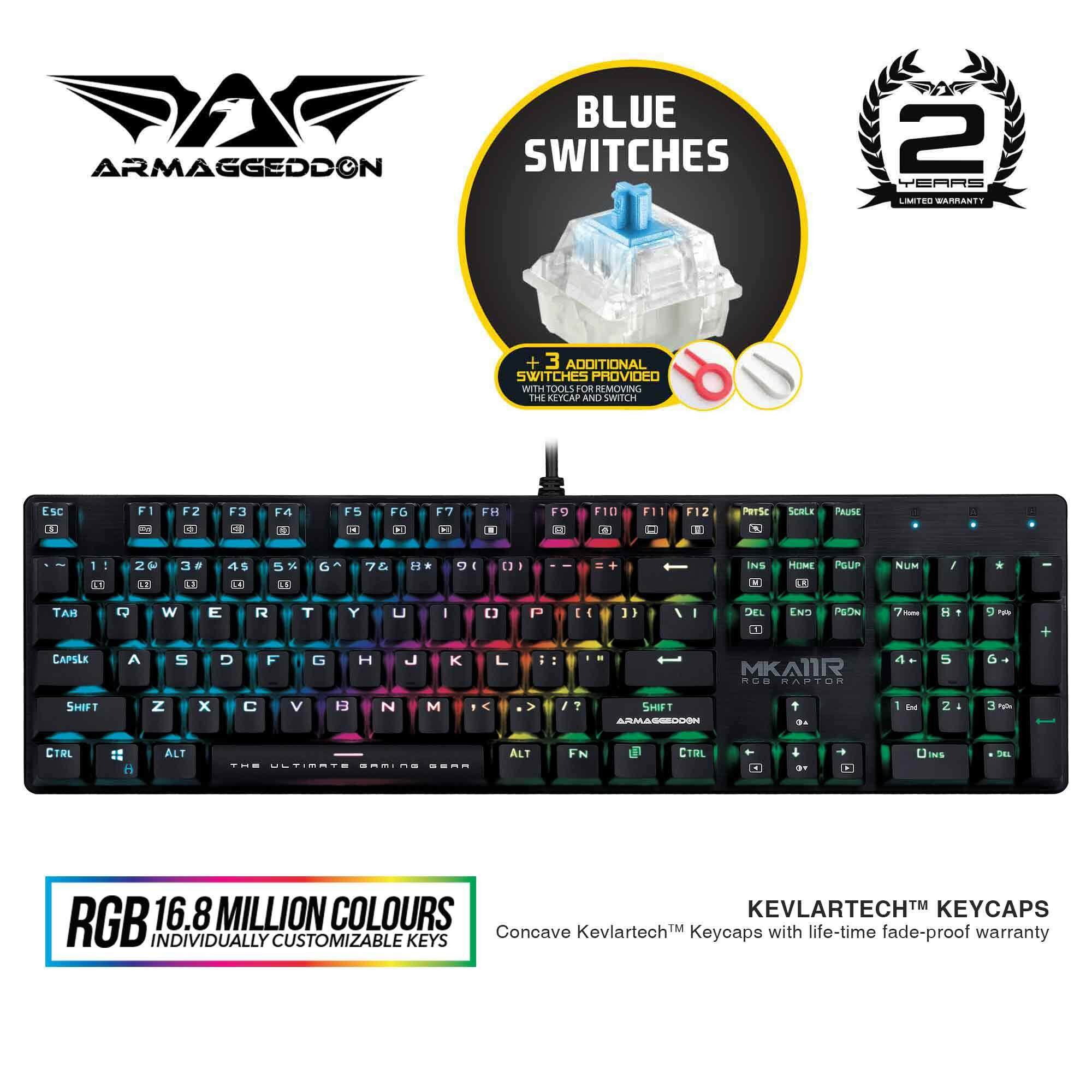 Armaggeddon MKA-11R RGB Mechanical Gaming Keyboard (Blue Switch) Malaysia