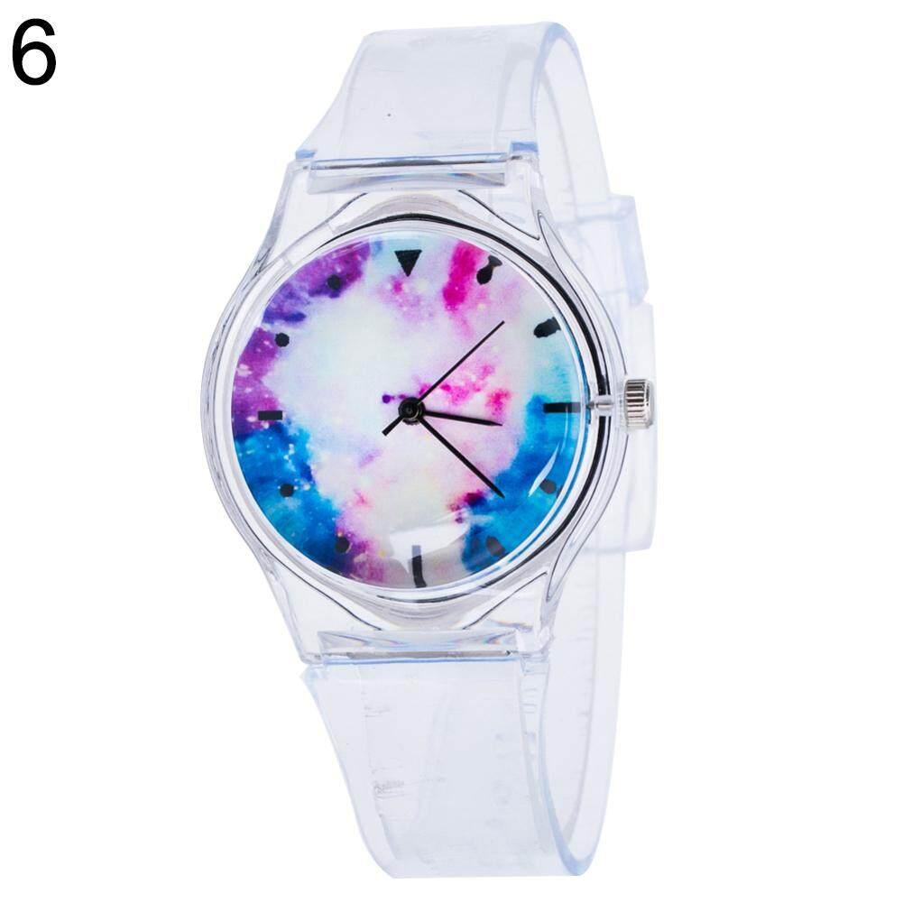 Phoenix B2C Fashion Transparent Kids Women Colorful Dial Jelly Quartz Analog Wrist Watch (6#) Malaysia