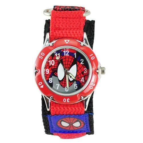Amazing Spider-Man 3D Cartoon Watch Fashion South Korea Kids Watch Students Waterproof Outdoor Watch Canvas Black Malaysia