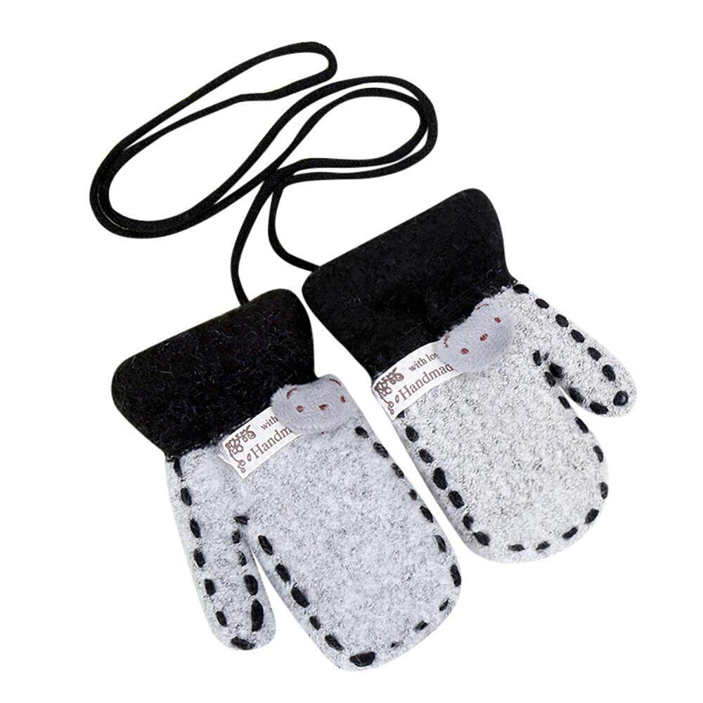 Half Finger Fingerless Solid Hot Infant Baby Girls Boys Of Winter Warm Gloves By Questre.