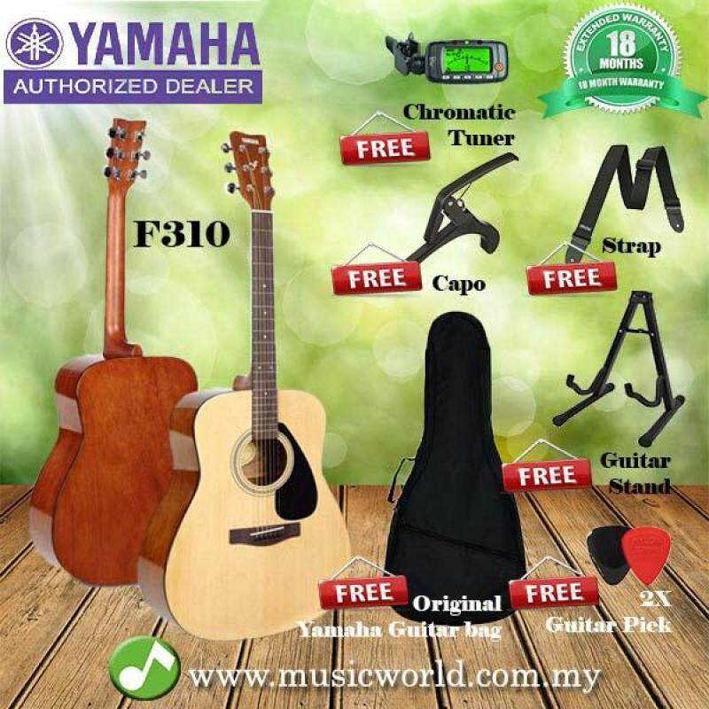 Yamaha F310 41 Inch Acoustic Guitar Complete Package With A Frame Stand (F 310) Malaysia