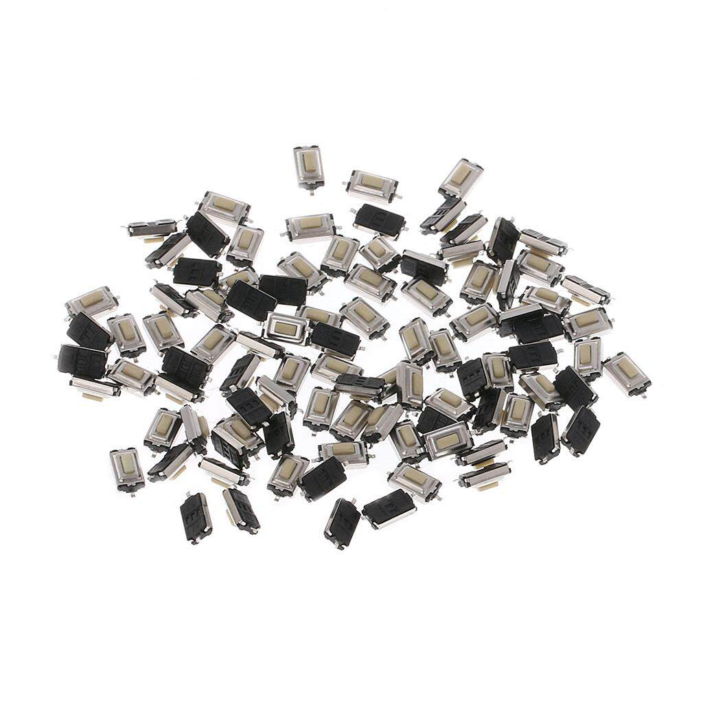 100 Pcs 3x6x2.5mm Momentary Tact SMD SMT Push Button Micro Switch 2 Pin