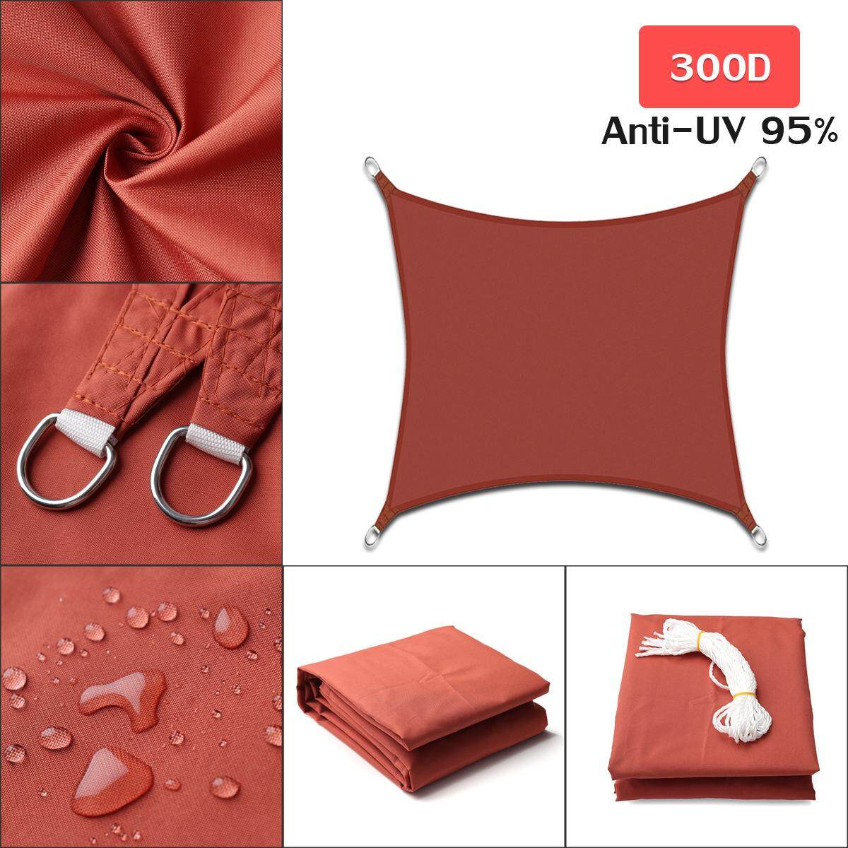Rust Red Rectangle Square Extra Heavy Duty Shade Sail Sun Outdoor