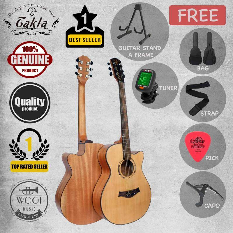 Takla M120 Acoustic Guitar 40( FREE Bag, Picks, Strap, Tuner, Capo & A Frame) Malaysia