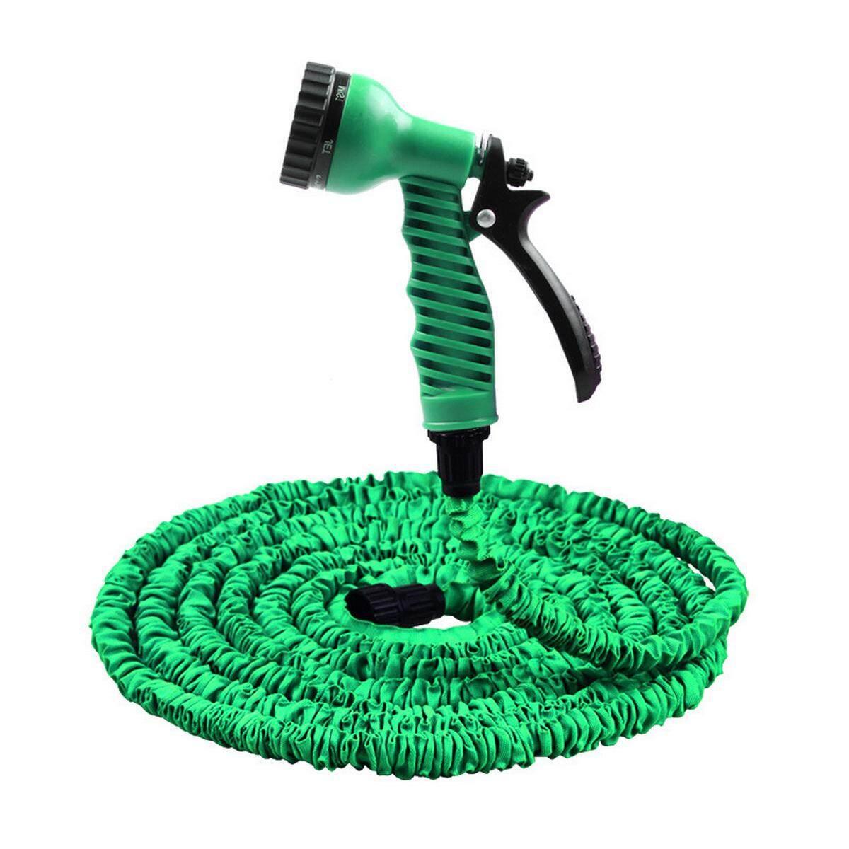 100FT High Pressure 3X Expandable Magic Flexible Water Hose for Garden, Car - Green