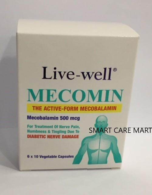 Live-Well Mecomin 500mcg 60s (exp:03/2022) By Smart Care Pharmacy.