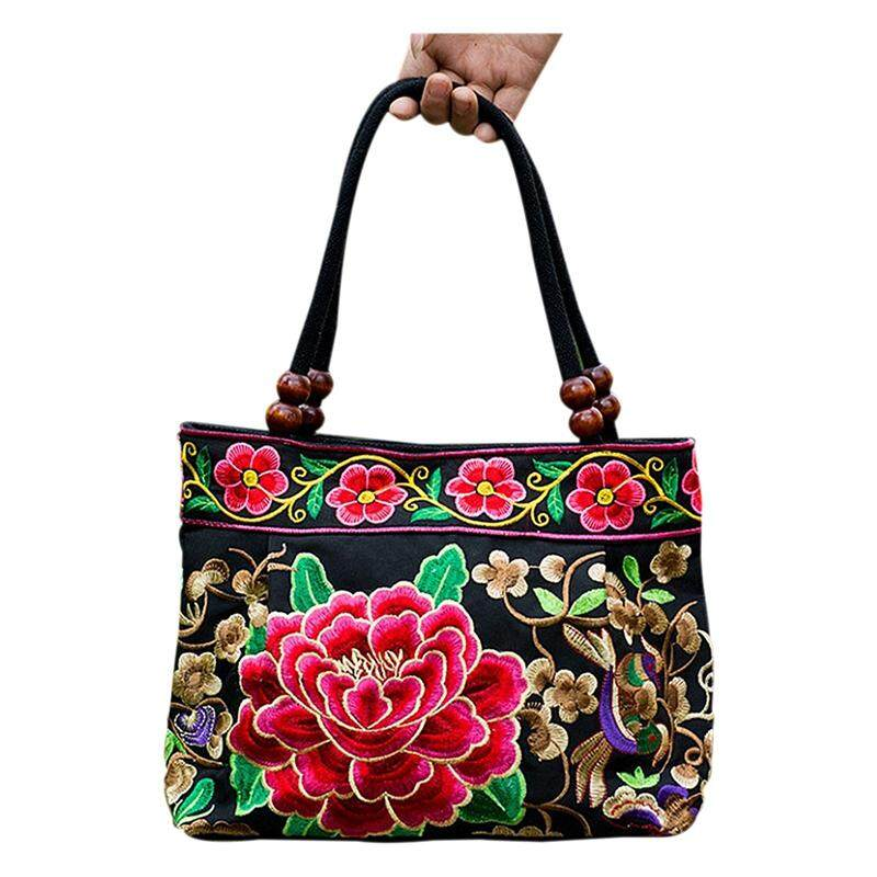 b607fb5322 Chinese Style Women Handbag Embroidery Ethnic Summer Fashion Handmade  Flowers Ladies Tote Shoulder Bags Cross-