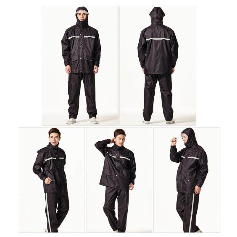 Waterproof Reflective Motorcycle Split Raincoat Rainwear Pants Suit Set Outdoor By Freebang.