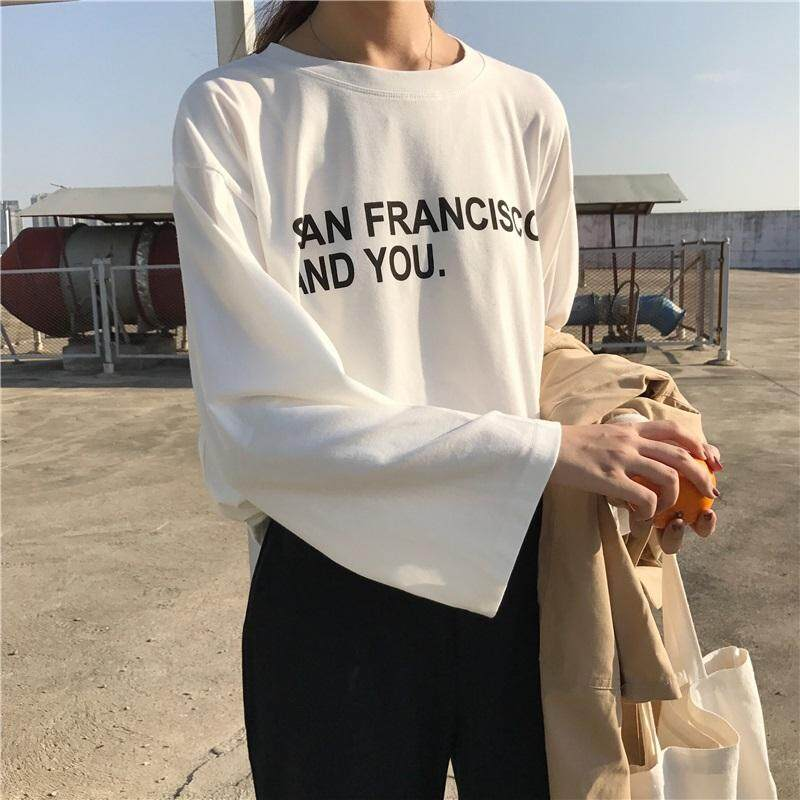 da5bac8436bf 2018 Early Autumn New Style Laziness on Clothes Harajuku Wind Ulzzang  Korean Style Loose T-