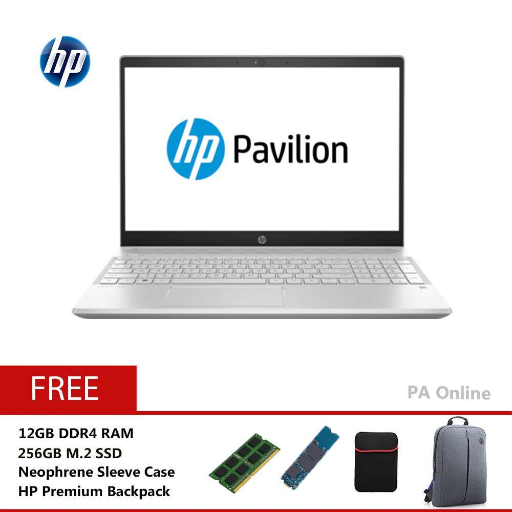 HP Pavilion 15-cs0033TX -256GB SSD-Intel Core i5-8250U/16GB DDR4/256GB+1TB HDD/15.6FHD LED/NVD MX150 2GB DDR5/2 years Warranty/Windows 10 Home Malaysia