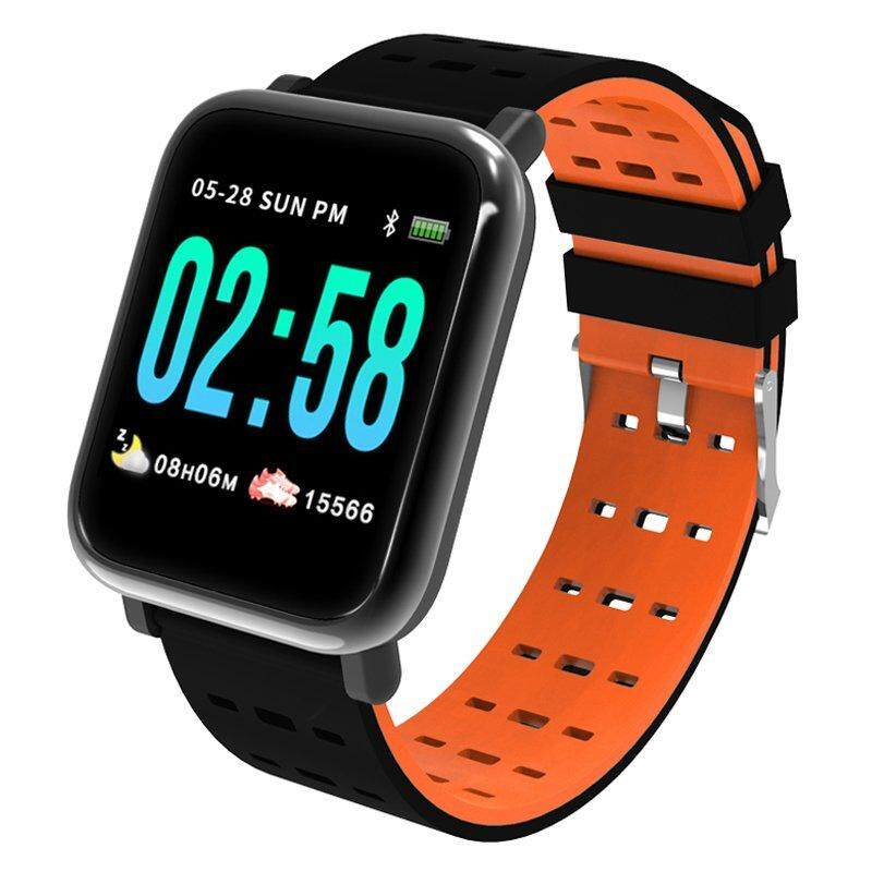 A6 Smart Watch Blood Pressure Blood Oxygen Monitor Smart Bracelet Heart  Rate Smart Band Bluetooth Waterproof Fitness Tracker Wristband For IOS And