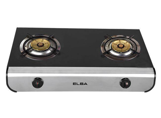 Elba Egs D7402rg Bk Tempered Gl Gas Cooker