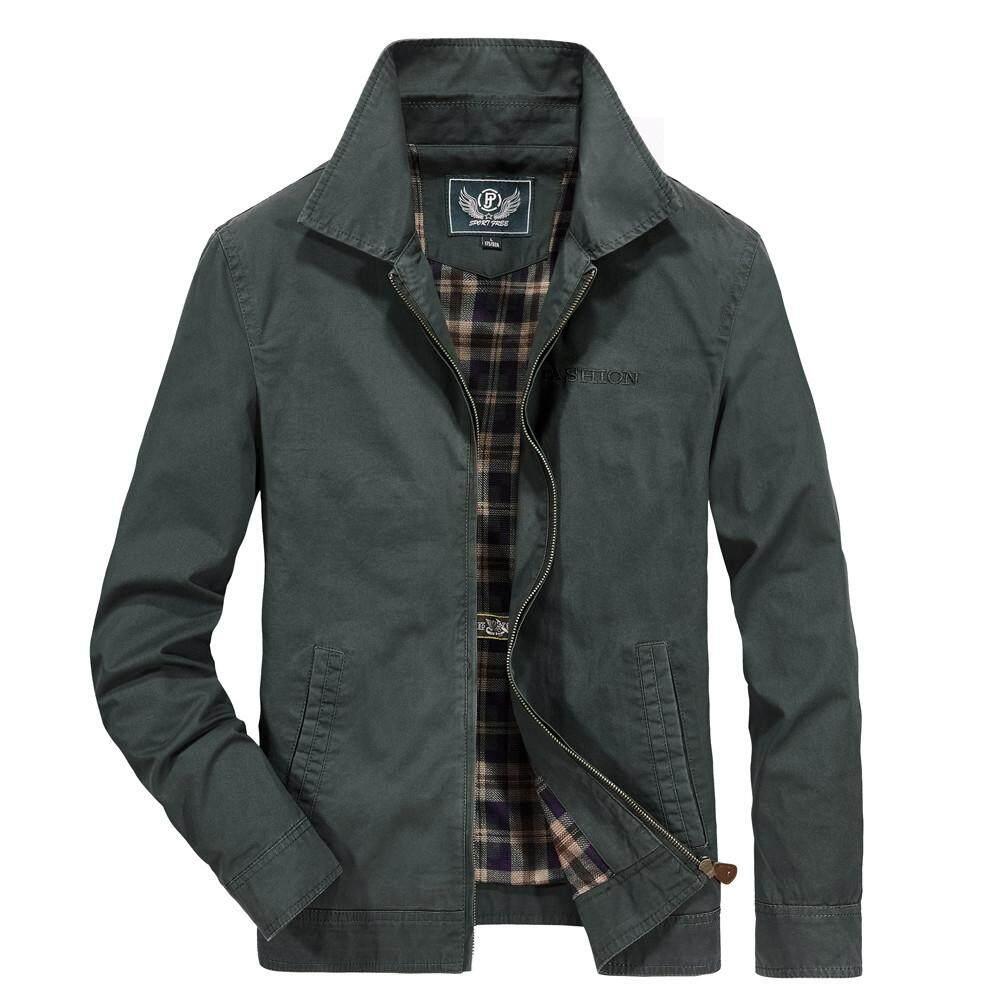 dfa35fb1b00a5 China. Rainny Mens Autumn Winter Fashion Lapel Pure Color Long Sleeve  Casual Sport Jacket Coat for men