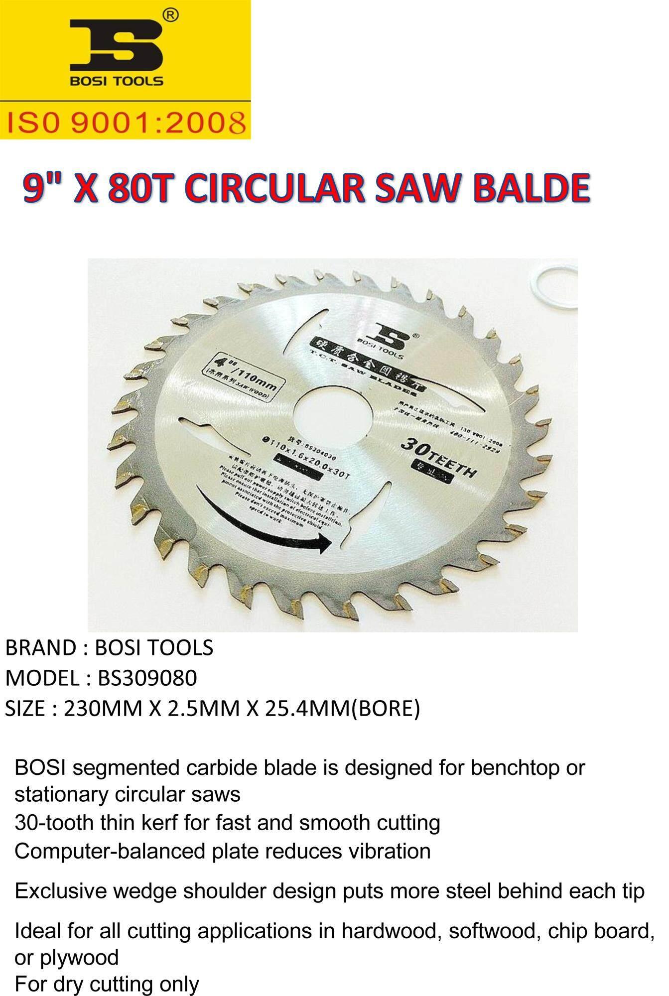 9 X 80T CIRCULAR TCT SAW BLADE ( FOR WOOD CUTTING )