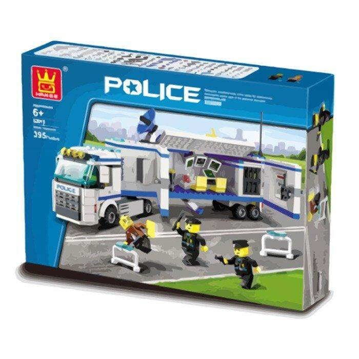 395 Pieces Police Building Blocks By Toys & Tots.