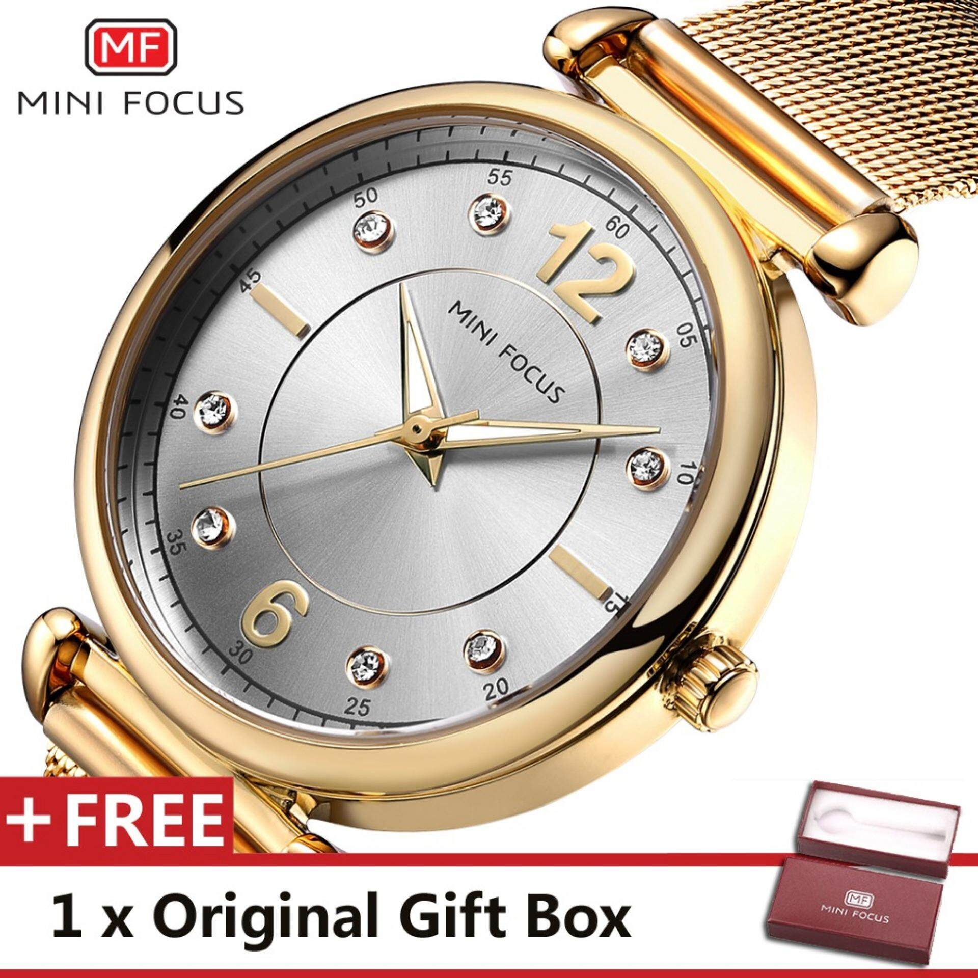 MINI FOCUS Top Luxury Brand Watch Famous Fashion Dress Women Quartz Watches Womens Trand Wristwatch Gift For Female MF0177L.01_FZ1 Malaysia