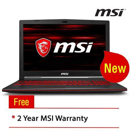 MSI GL63 8RC-666MY 15.6 Gaming Laptop/ Notebook (i5-8300H, 4GB, 1TB, NV GTX1050, W10H) Malaysia