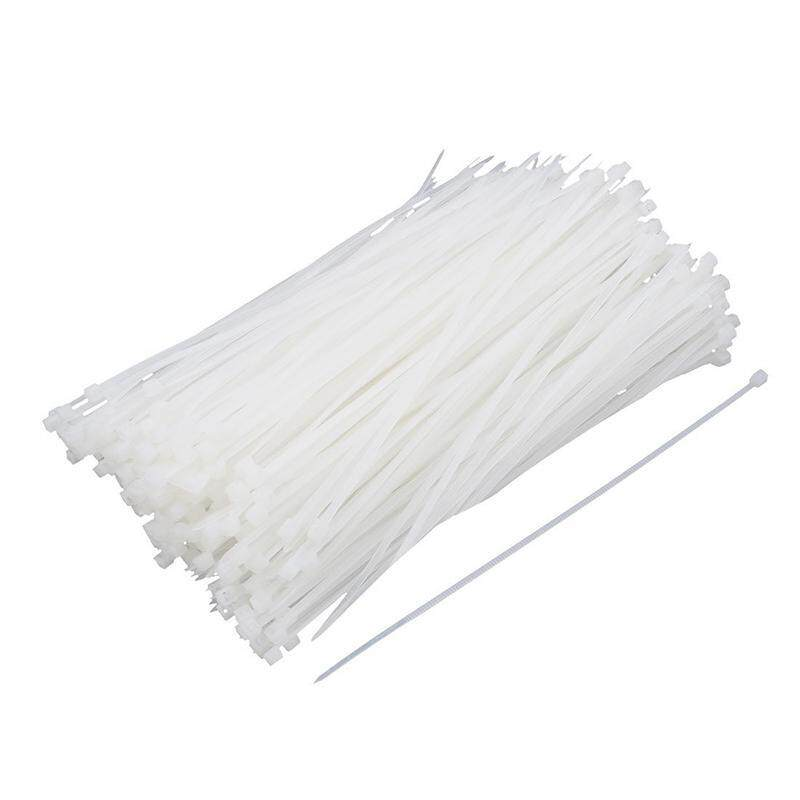Plastic Cable Wire Self-Locking Trim Wrap Loop Ties 2mmx150mm 380 Pcs